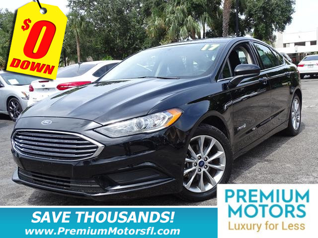 2017 FORD FUSION HYBRID SE FWD LUXURY FOR LESS FACTORY WARRANTY At Prem