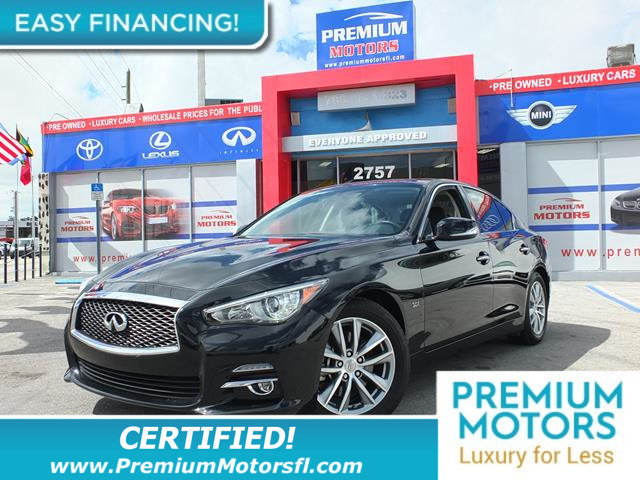 2016 INFINITI Q50 4DR SEDAN 30T SPORT RWD LOADED CERTIFIED WE SAVE YOU THOUSANDS Fully service
