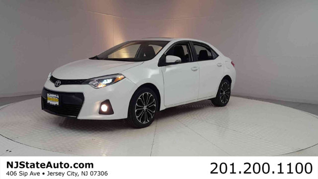 2015 TOYOTA COROLLA 4DR SEDAN CVT S PLUS CARFAX One-Owner Blizzard Pearl 2015 Toyota Corolla S Plu