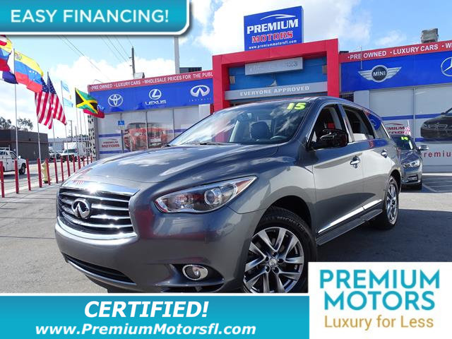 2015 INFINITI QX60 FWD 4DR LOADED  FACTORY WARRANTY At Premium Motors we have relationships