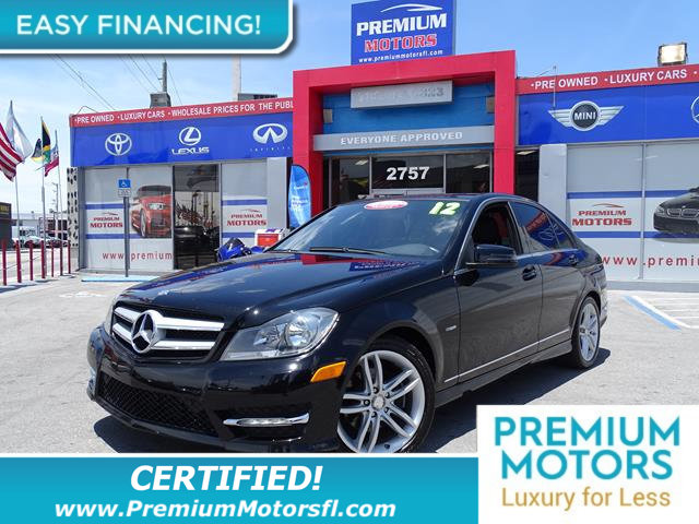 2012 MERCEDES C-CLASS 4DR SEDAN C 250 SPORT RWD LOADED CERTIFIED WE SAVE YOU THOUSANDS Ful