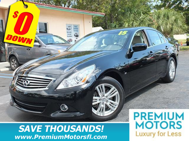 2015 INFINITI Q40 4DR SEDAN RWD LOADED CERTIFIED MINT CONDITION At Premium Motors we ha