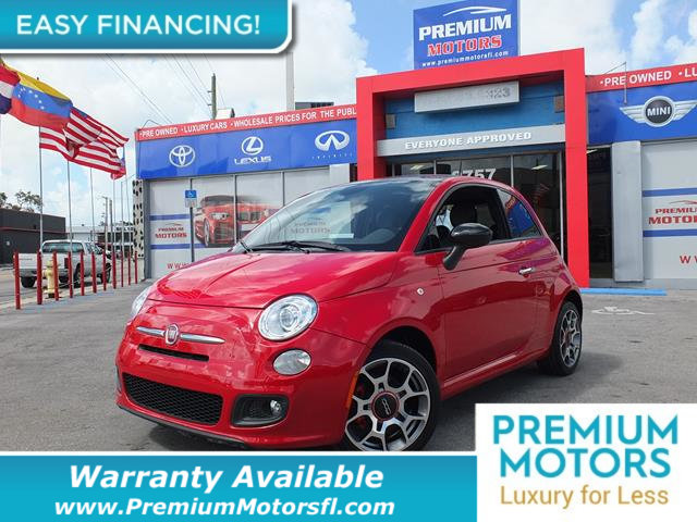 2015 FIAT 500 2DR HATCHBACK SPORT LOADED CERTIFIED FACTORY WARRANTY Fully serviced just sign a