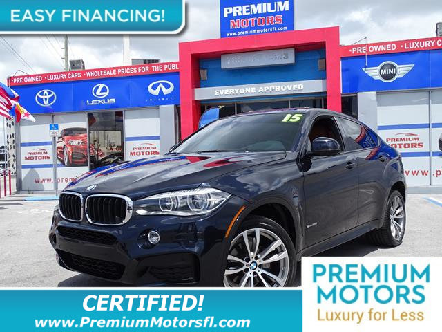 2015 BMW X6 XDRIVE35I HUGE SALE FACTORY WARRANTY At Premium Motors we have relationships with