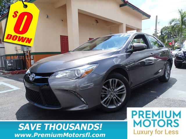 2017 TOYOTA CAMRY SE AUTOMATIC TOYOTA FOR LESS LOADED  At Premium Motors we have relation