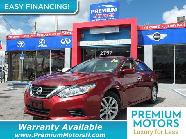 2016 NISSAN ALTIMA 4DR SEDAN I4 25 LOADED CERTIFIED WARRANTY Dont Pay Retail Get low monthly