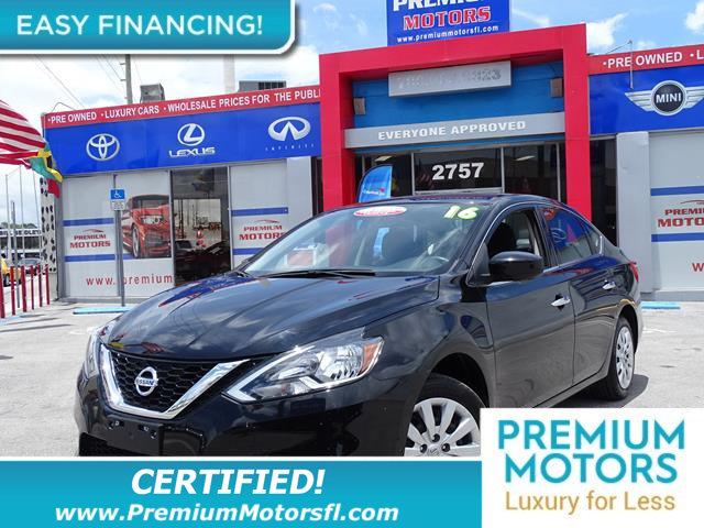 2016 NISSAN SENTRA 4DR SEDAN I4 CVT SV LOADED CERTIFIED WE SAVE YOU THOUSANDS Fully servic