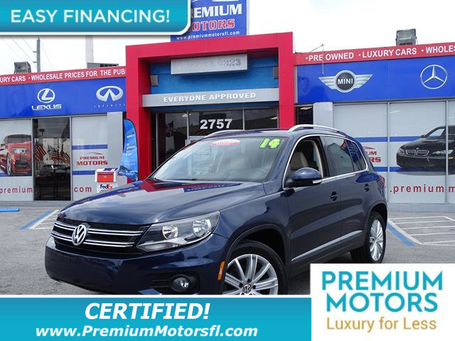 2014 VOLKSWAGEN TIGUAN  LOADED CERTIFIED FACTORY WARRANTY Fully serviced just sign and drive