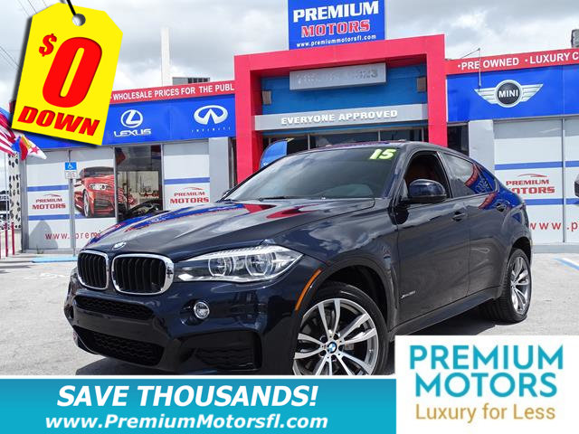 2015 BMW X6 XDRIVE35I BMW FOR LESS FACTORY WARRANTY At Premium Motors we have relationship