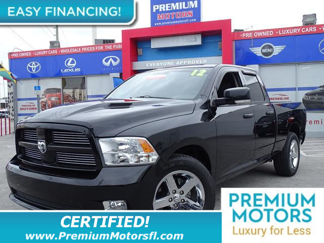 2012 RAM 1500 2WD QUAD CAB 1405 SPORT LOADED CERTIFIED WE SAVE YOU THOUSANDS Fully serviced