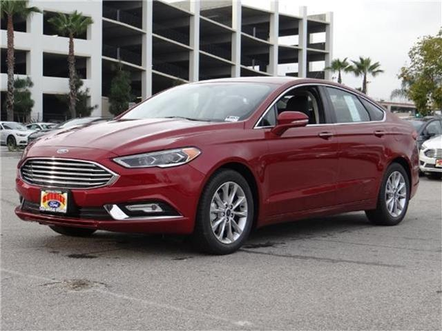 2017 Ford Fusion SE Front-wheel Drive Sedan Miles 1Color RUBY RED TINTED Stock M71260 VIN 3F