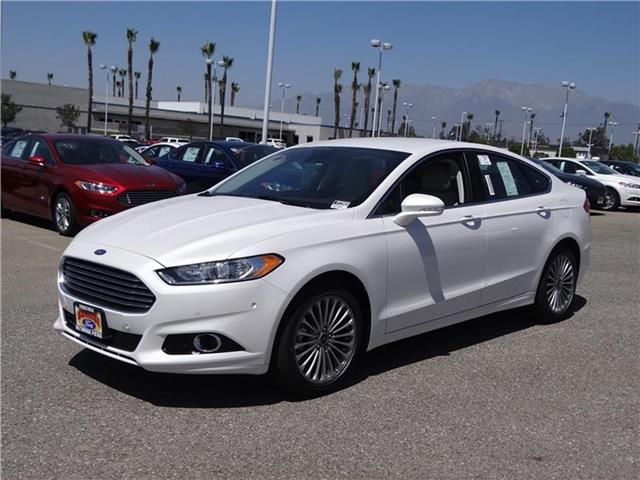 2015 Ford Fusion Titanium Front-wheel Drive Sedan Miles 1Color WHITE PLATINUM Stock M52883T V