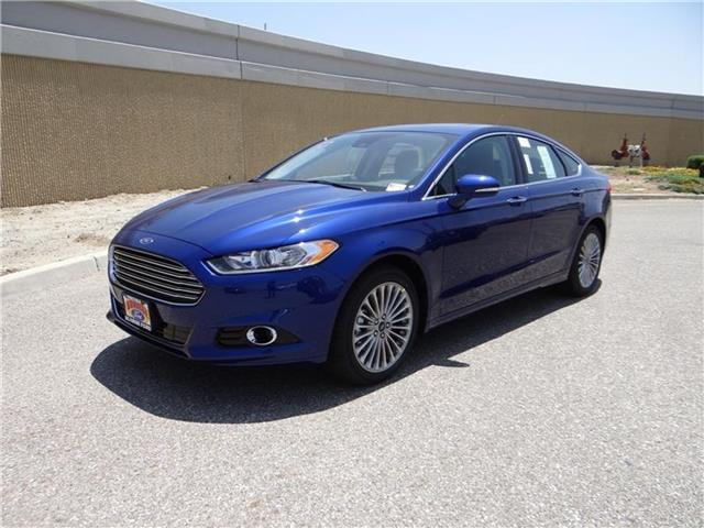 2016 Ford Fusion Titanium Front-wheel Drive Sedan Miles 1Color DEEP IMPACT BLU Stock M60932T