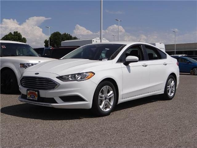 2018 Ford Fusion SE Front-wheel Drive Sedan Miles 1Color OXFORD WHITE Stock M80199T VIN 3FA6