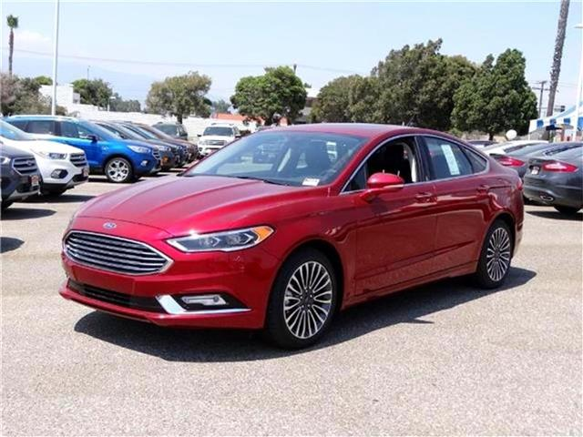 2017 Ford Fusion SE Front-wheel Drive Sedan Miles 1Color RUBY RED Stock M72678T VIN 3FA6P0H9