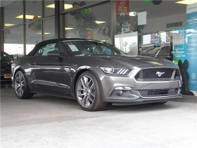 2017 Ford Mustang GT Premium Convertible Miles 1Color MAGNETIC GRAY Stock M70411 VIN 1FATP8F