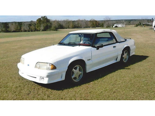 1992 FORD MUSTANG convertible 50 low mileage white burgundy int one owner xc lady driven 10