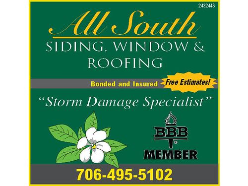All South Siding Window and Roofing Licensed Bonded And Insured Reroofing Replacement Windows V