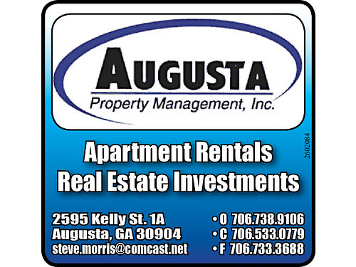 1Br  2Br 1  15Ba Augusta Townhouses and North Augusta Flats Washer and Dryer Hookups Water  Tr