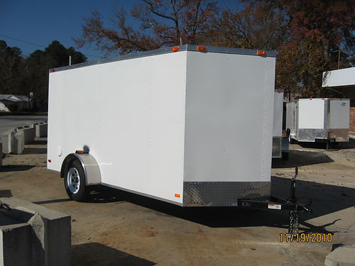 6x12 Enclosed Ramp Door Trailer 1-866-857-1023