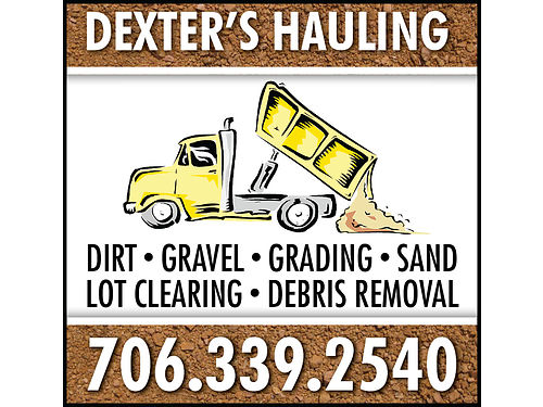 Dexters Hauling Offers Hauling of Dirt Sand  Gravel Grading Lot Clearing Demolition  Debris R