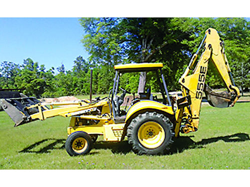 BACKHOE New Holland 555e includes 6 way loader bucket gc 1900hrs 17000 for photos search 29339