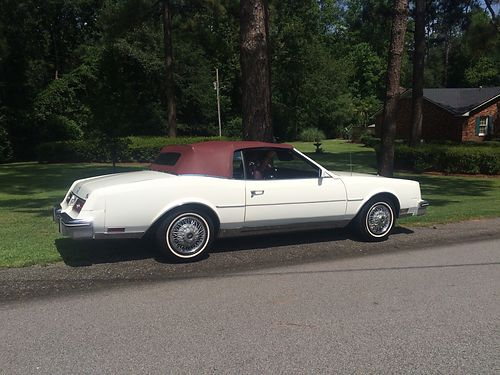 1985 BUICK RIVIERA convertible white  burgandy good condition 10000 obo for color photos search