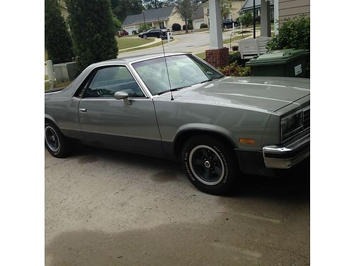 1984 CHEVY ELCAMINO very good condition high performance mags and engine MSTA 5900 for more photo