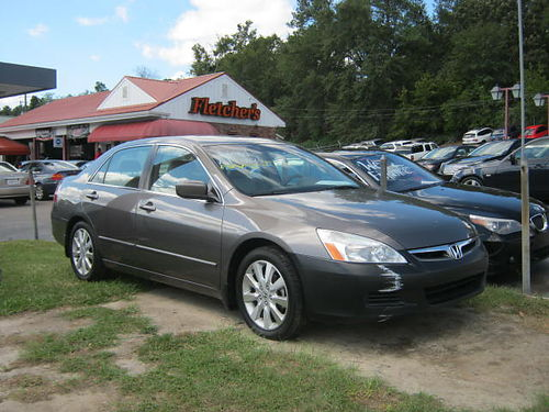 2007 HONDA ACCORD 4Dr Auto Gray 8100 706-771-9510
