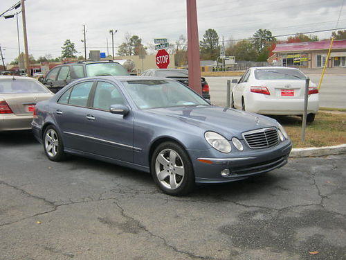 2003 MERCEDES E500 4dr Auto Loaded Blue Low Miles 7900 706-771-9510