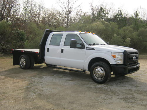 2011 FORD F350 XL 4dr Crew Cab Flatbed v8 108k Miles 85 Steelbed One Owner Extra Clean Well