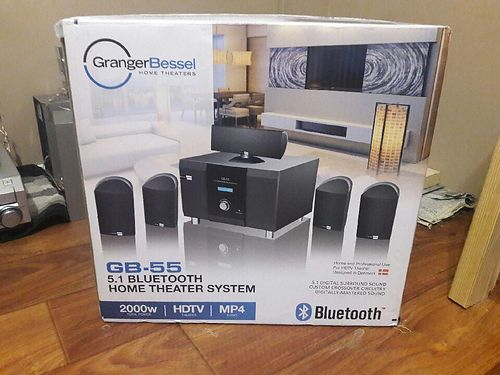 HOME THEATER brand name Granger Bessell gb-55 51 Bluetooth system 2000 watt total power hdtv the