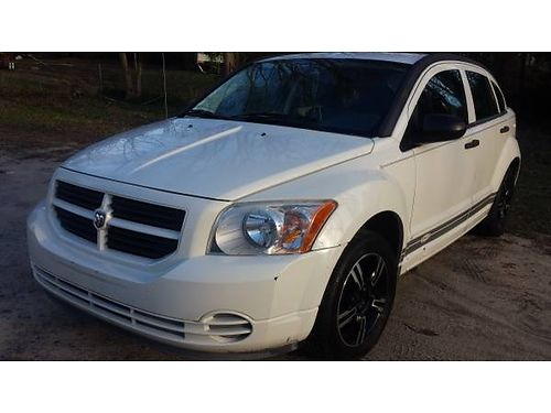 2007 DODGE CALIBER SE Sport 20L 144k miles 4dr hatchback white with grey cloth interior afterma