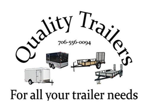 Quality Trailers A-Frame 3 Dove Tail Gate 3500lb Single Axles 15 Tires 5x8 5x10 6x10  6x12 Give