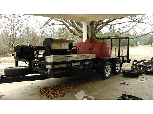 PRESSURE WASHER industrial mounted on trailer with toolbox Alkota model 5355 generated 325 red t