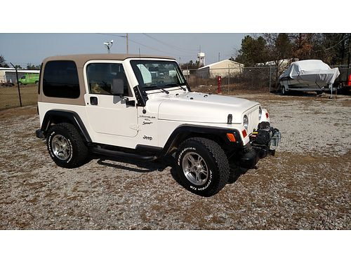 2000 JEEP WRANGLER SPORT hard top and doors 40L engine 5spd manual 146k miles new tires shock