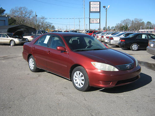 2006 TOYOTA CAMRY LE 4dr Burgundy 9995 888-640-5901