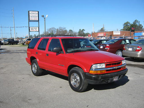 2004 CHEVY BLAZER 4x4 Auto 4dr Red 7995 888-640-5901