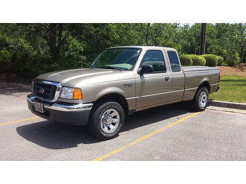 2004 FORD RANGER XLT arizon beige 4 dr loaded 40 v6 45k miles very nice matching hard tonneau