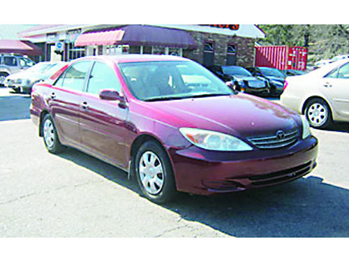 2002 TOYOTA CAMRY 4dr Auto Burgundy 4900 706-771-9510