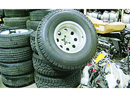 TIRES 33x12  5R15 LT WILD COUNTRY with Eagle Aluminum Rims Set of 4 1000 Tires Only Brand New