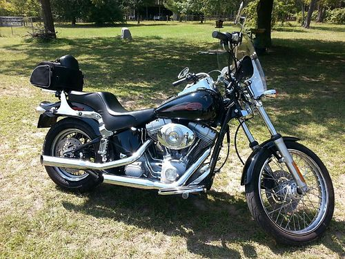 2004 HARLEY SOFTTAIL standard black fuel injection great bike 29170 miles new tires 6000obo