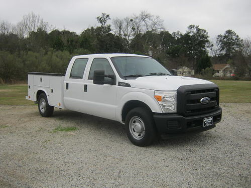 2011 FORD F250 XL Crew Cab Service Truck 62 v8 Knapheide Body Flip Top One Owner Extra Clean