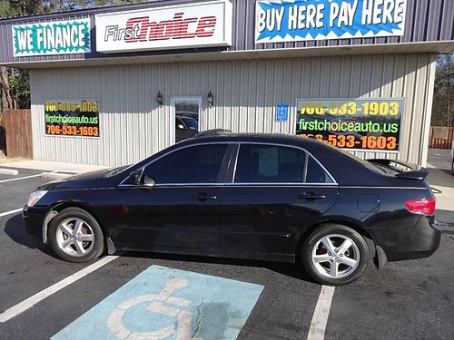2005 HONDA ACCORD EXL 4Dr Auto Black Leather Alloys 1-866-402-9704