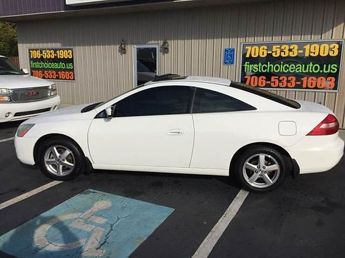2003 HONDA ACCORD 2Dr Coupe Auto White Leather Sunroof 1-866-402-9704