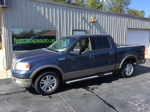 2004 FORD F-150 LARIAT Super Crew Leather Blue 706-533-1603