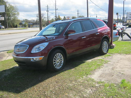 2008 BUICK ENCLAVE 4Dr Auto Red 3rd Row Loaded 9500 706-771-9510