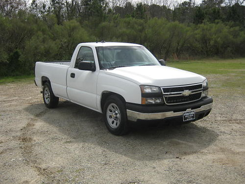 2007 CHEVY 1500 SILVERADO 2Dr Reg Cab Long Bed V6 119k Miles One Owner Extra Clean Well Maint