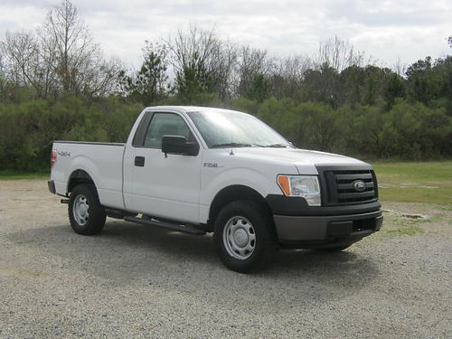 2010 FORD F-150 XL 4x4 Reg Cab Short Bed 54L V8 102k Miles Running Boards Hitch Very Well Ma