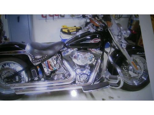 2006 HARLEY HERITAGE SOFTTAIL black and chrome loaded leather saddle bags passenger seat sissy